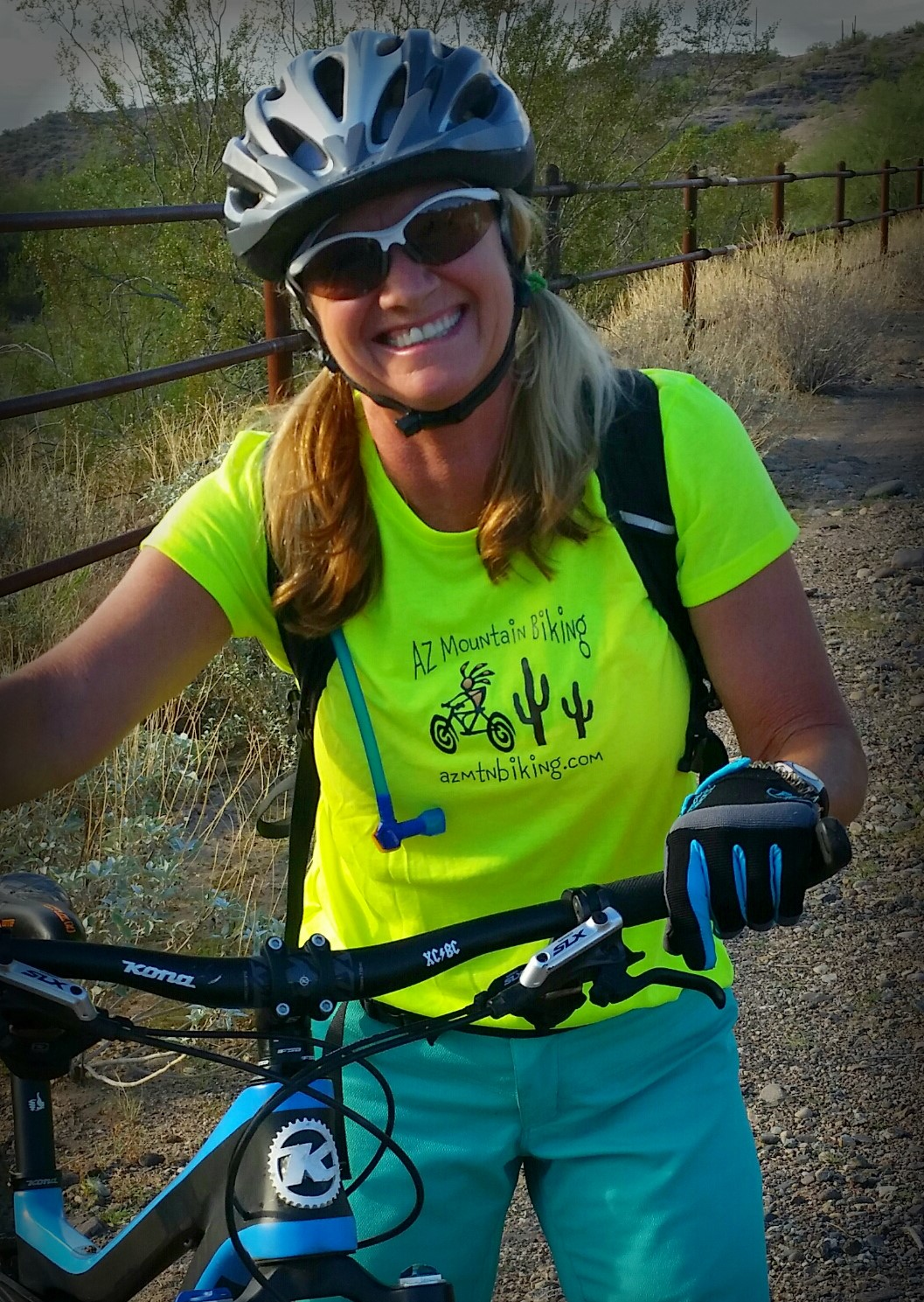 AZ Mountain Biking neon yellow riding shirt